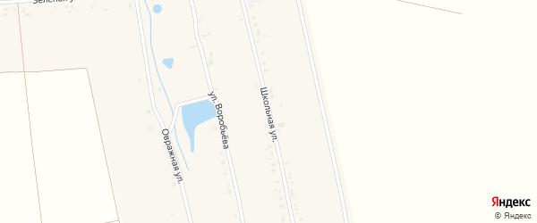 Школьная улица на карте деревни Большие Яуши с номерами домов
