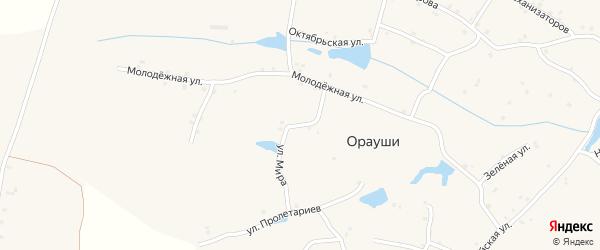 Улица Мира на карте села Ораушей с номерами домов