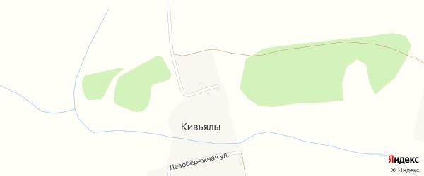 Луговая улица на карте деревни Тоганаши с номерами домов