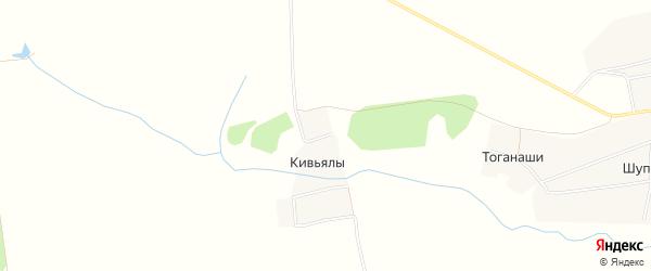 Карта деревни Тоганаши в Чувашии с улицами и номерами домов