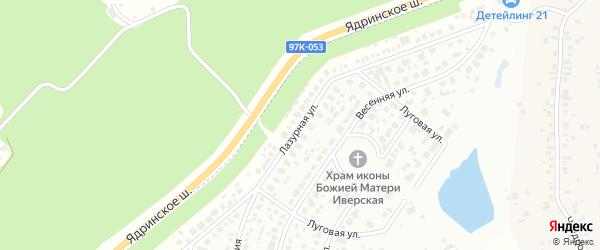 Лазурная улица на карте деревни Чандрово с номерами домов