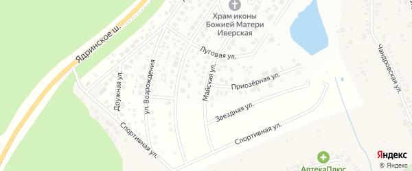 Майская улица на карте деревни Чандрово с номерами домов