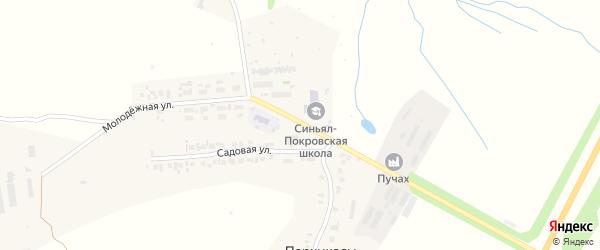 Молодежная улица на карте деревни Пархикас с номерами домов