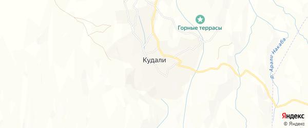 Карта села Кудали в Дагестане с улицами и номерами домов