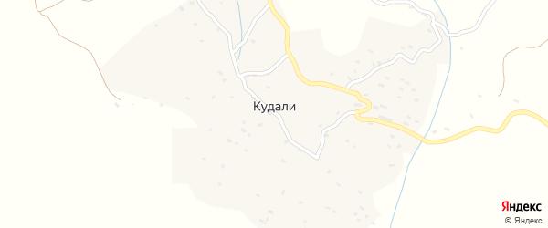 Кудалинская улица на карте села Кудали с номерами домов