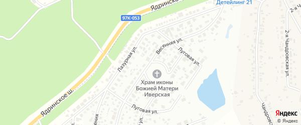 Весенняя улица на карте деревни Чандрово с номерами домов