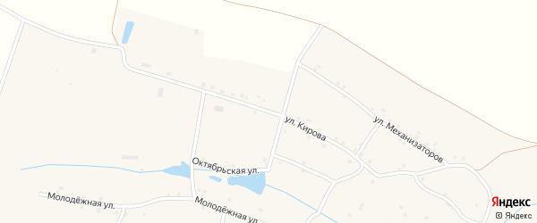 Улица Кирова на карте села Ораушей с номерами домов