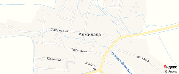 Улица Хизроева на карте села Аджидады с номерами домов
