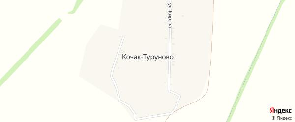 Заовражная улица на карте деревни Кочак-Туруново с номерами домов