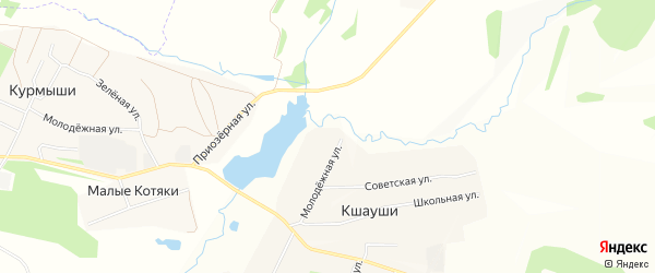 СТ Природа на карте Абашевского сельского поселения с номерами домов