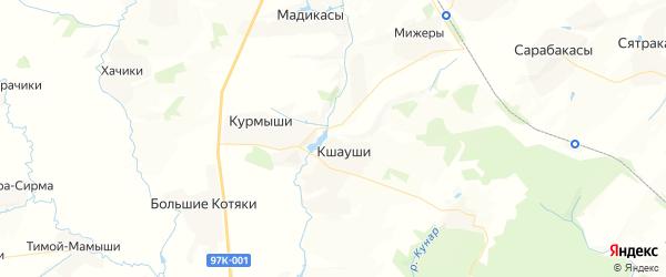 Карта Атлашевского сельского поселения республики Чувашия с районами, улицами и номерами домов