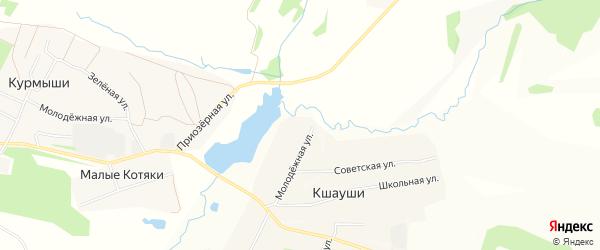 СТ Ягодка на карте Синьяльского сельского поселения с номерами домов