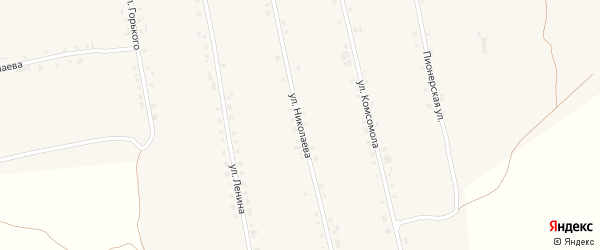 Улица Николаева на карте села Сойгино с номерами домов
