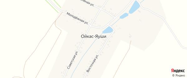Молодежная улица на карте деревни Ойкаса-Яуши с номерами домов