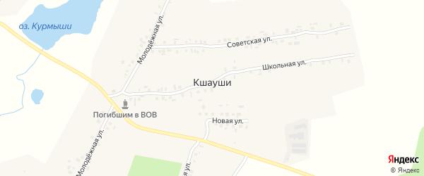 Садовая улица на карте деревни Кшаушей с номерами домов