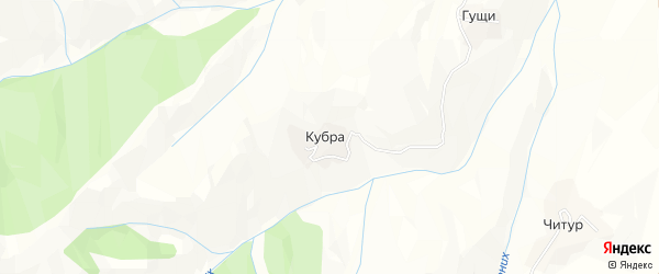 Карта села Хут в Дагестане с улицами и номерами домов