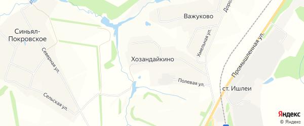 Карта деревни Хозандайкино в Чувашии с улицами и номерами домов