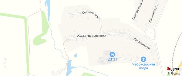 Улица Хозандайкино на карте деревни Хозандайкино с номерами домов
