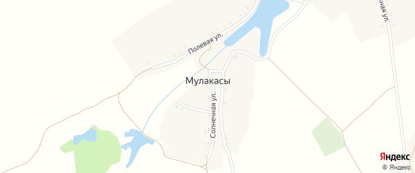 Солнечная улица на карте деревни Мулакасы с номерами домов
