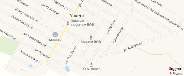 Шамхалбулакская улица на карте села Учкента с номерами домов