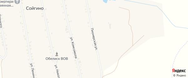 Пионерская улица на карте села Сойгино с номерами домов