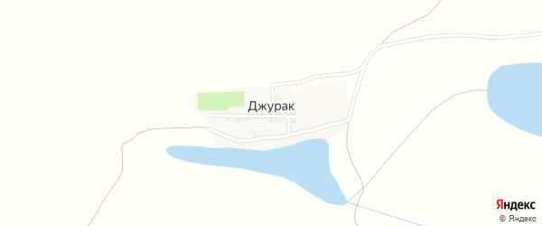 Светлая улица на карте поселка Джурака с номерами домов