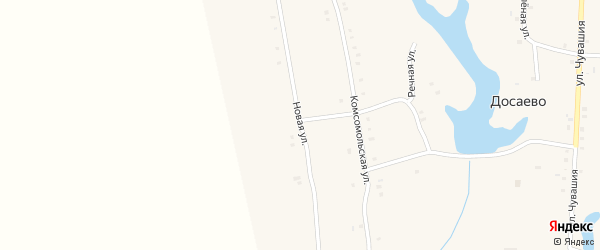 Новая улица на карте деревни Досаево с номерами домов