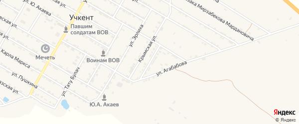 Улица Андропова на карте села Учкента с номерами домов