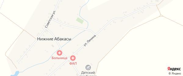 Улица Ленина на карте деревни Нижние Абакасы с номерами домов