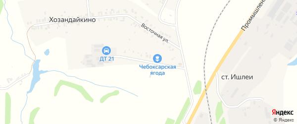 Полевая улица на карте деревни Хозандайкино с номерами домов