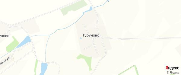 Карта села Туруново в Чувашии с улицами и номерами домов