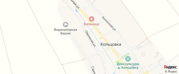 Овражная улица на карте деревни Кольцовка с номерами домов