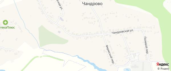 Чандровская улица на карте деревни Чандрово с номерами домов