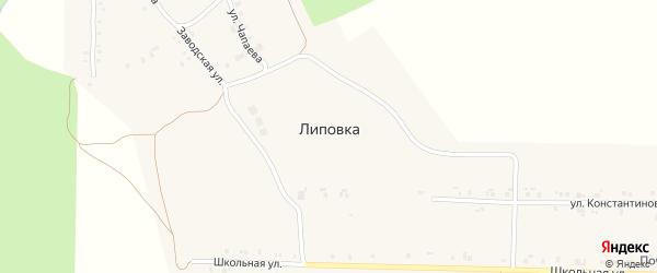 Улица Мира на карте поселка Липовки с номерами домов
