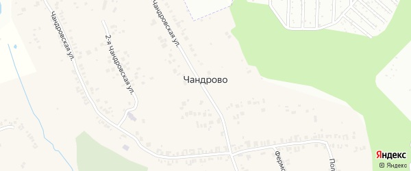 Спортивная улица на карте деревни Чандрово с номерами домов