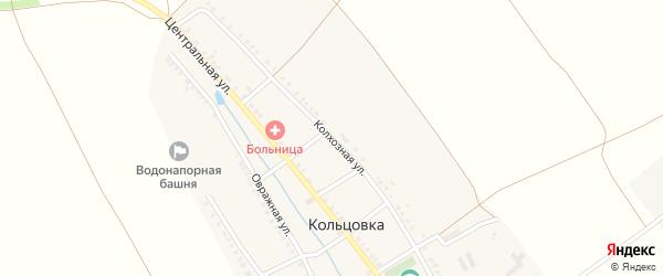 Колхозная улица на карте деревни Кольцовка с номерами домов