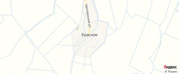 Карта Красного села в Дагестане с улицами и номерами домов