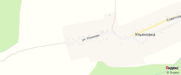 Улица Ульянова на карте поселка Ульяновки с номерами домов