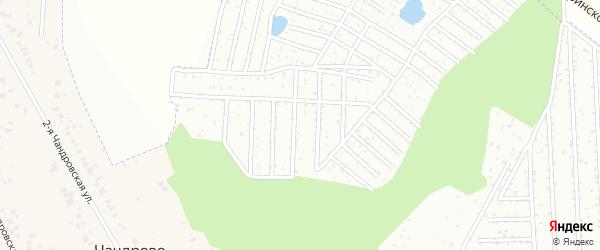 Территория сдт Чандровский на карте Чебоксар с номерами домов