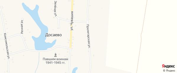 Пролетарская улица на карте деревни Досаево с номерами домов