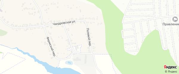 Полевой переулок на карте деревни Чандрово с номерами домов