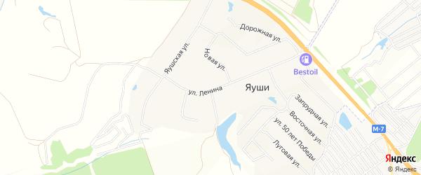 Коттеджный квартал Вознесенский микрорайон на карте деревни Яуш с номерами домов