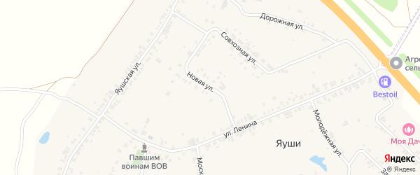 Новая улица на карте деревни Яуш с номерами домов