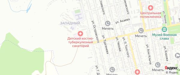 Улица Г.Далгата на карте Буйнакска с номерами домов
