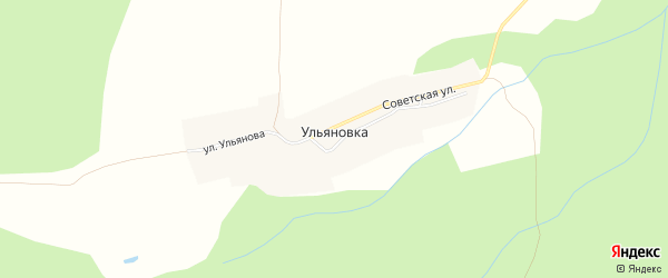 Карта поселка Ульяновки в Чувашии с улицами и номерами домов