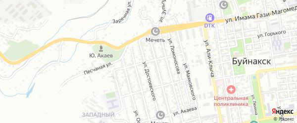 Улица Джанакаева на карте Буйнакска с номерами домов