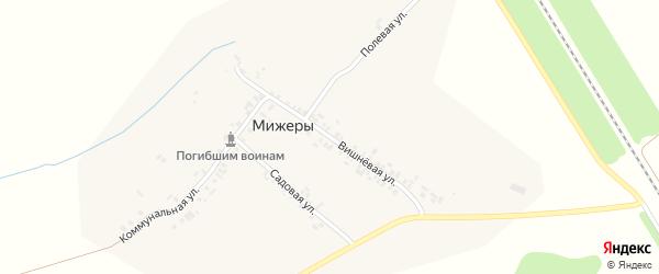Вишневая улица на карте деревни Мижеры с номерами домов