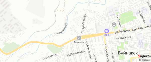 Шуринский переулок на карте Буйнакска с номерами домов