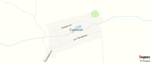 Карта деревни Сирикли в Чувашии с улицами и номерами домов