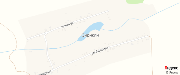 Полевая улица на карте деревни Сирикли с номерами домов